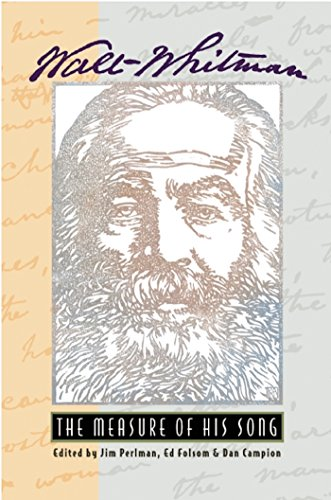9780930100780: Walt Whitman: The Measure of His Song
