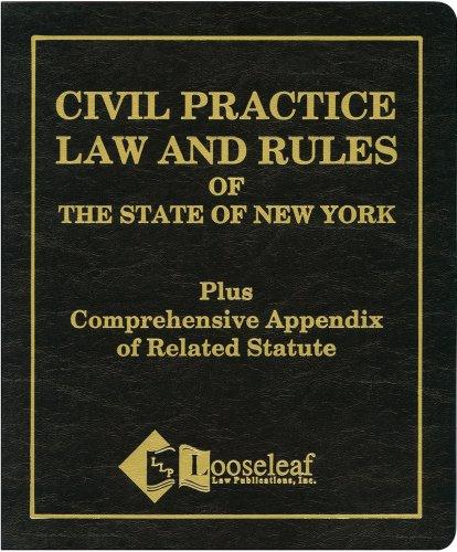 9780930137120: Civil Practice Law & Rules Plus Appendix: NYS Certified