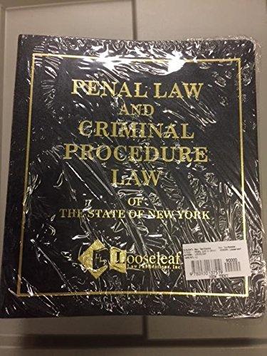 Penal Law & Criminal Procedure Law (Single: Statute, New York
