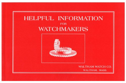 Helpful Information for Watchmakers