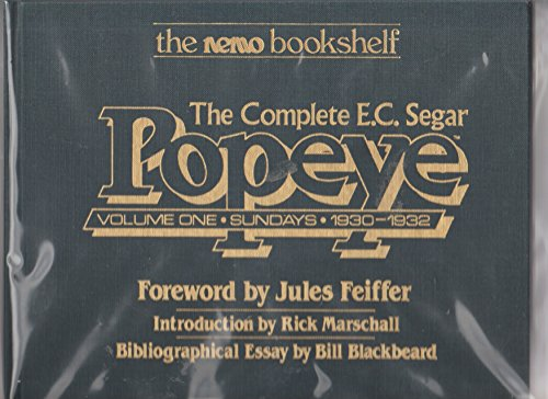 9780930193010: The Complete E.C. Segar Popeye, Vol. 1: Sundays, 1930-1932 (The Nemo Bookshelf)