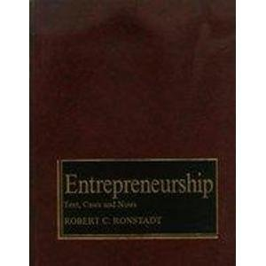 9780930204112: Entrepreneurship: Text, Cases and Notes