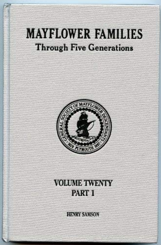 Mayflower Families Through Five Generations, Vol. 20,