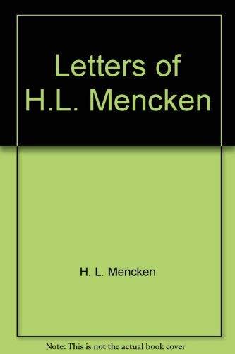 9780930350185: Letters of H. L. Mencken