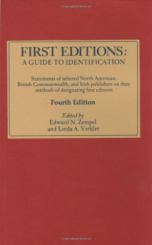 9780930358181: First Editions: A Guide to Identification