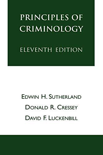 9780930390693: Principles of Criminology (The Reynolds Series in Sociology)