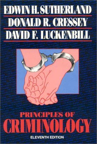 9780930390709: Principles of Criminology (The Reynolds Series in Sociology)