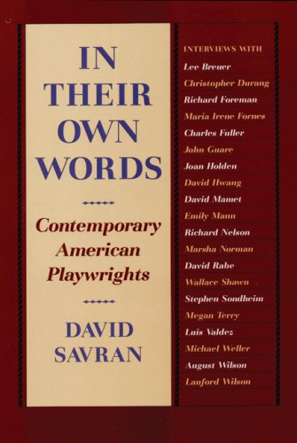 9780930452698: In Their Own Words: Contemporary American Playwrights