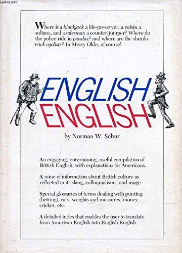 9780930454050: English English: A Descriptive Dictionary