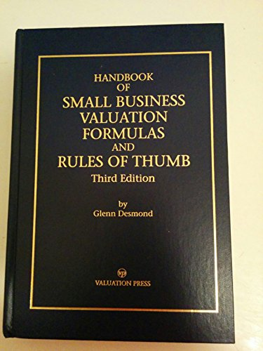 9780930458065: Handbook of Small Business Valuation Formulas and Rules of Thumb/Third Edition