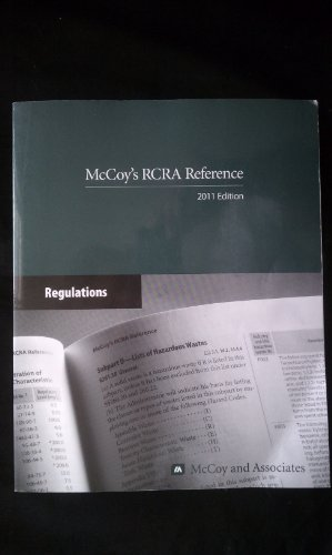 9780930469603: McCoy's RCRA Reference 2011 Edition
