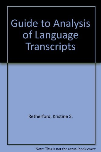 9780930599119: Guide to Analysis of Language Transcripts