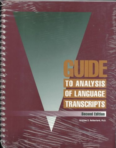9780930599874: Guide to Analysis of Language Transcripts