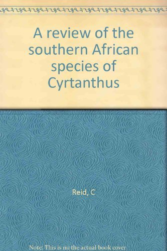 9780930653002: A review of the southern African species of Cyrtanthus