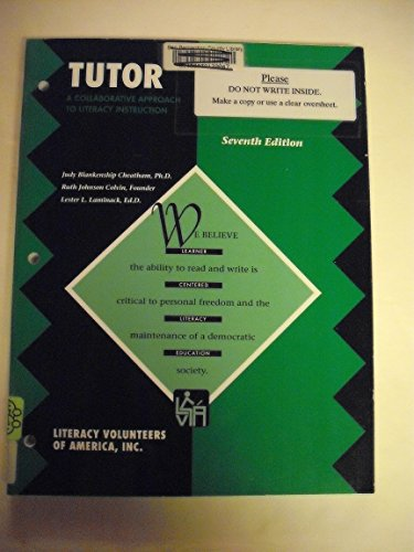9780930713812: Tutor: A Collaborative Approach To Literacy Instruction
