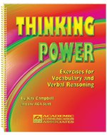 9780930951955: Thinking power: Exercises for vocabulary and verbal reasoning