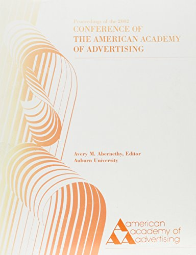9780931030260: Proceedings of the 2002 Conference of the American Academy of Advertising (Proceedings of the Conference of the American Academy of Advertising)