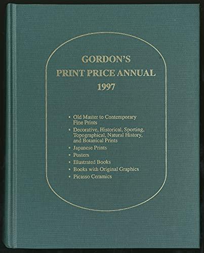 9780931036033: Gordon's Print Price Annual 1997