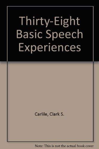 9780931054150: Thirty-Eight Basic Speech Experiences