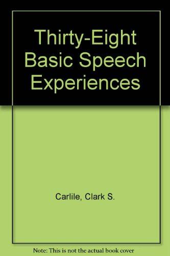 9780931054266: Thirty-Eight Basic Speech Experiences