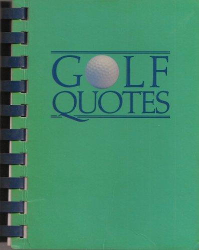 9780931089022: Golf Quotes