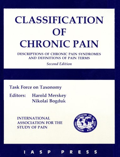 9780931092053: Classification of Chronic Pain: Descriptions of Chronic Pain Syndromes and Definitions of Pain Terms