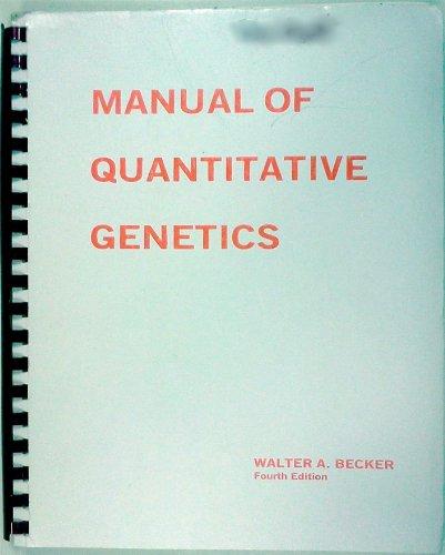 9780931399008: Manual of quantitative genetics