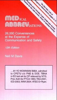 9780931431128: Medical Abbreviations: 26,000 Conveniences At The Expense Of Communications And Safety