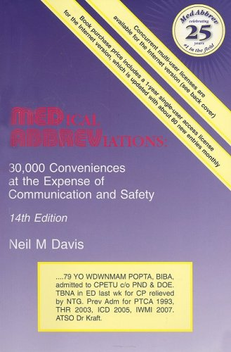 9780931431142: Medical Abbreviations: 30,000 Conveniences at the Expense O Communication and Safety