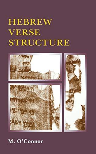 9780931464027: Hebrew Verse Structure