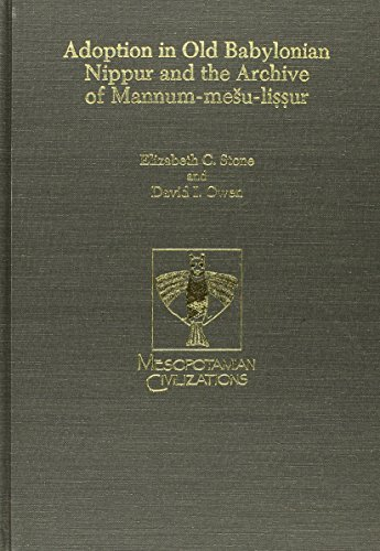 9780931464539: Adoption in Old Babylonian Nippur and the Archive of Mannum- Su-Li Sur (Mesopotamin Civilization)