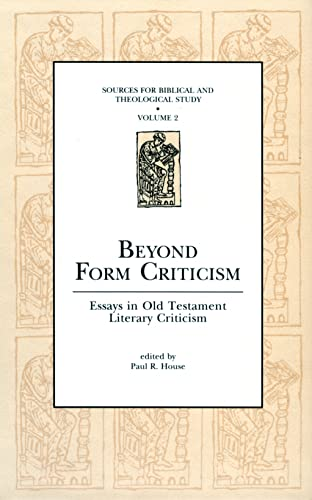 9780931464652: Beyond Form Criticism: Essays in Old Testament Literary Criticism (Sources for Biblical and Theological Study Old Testament Series)  Vol. 2