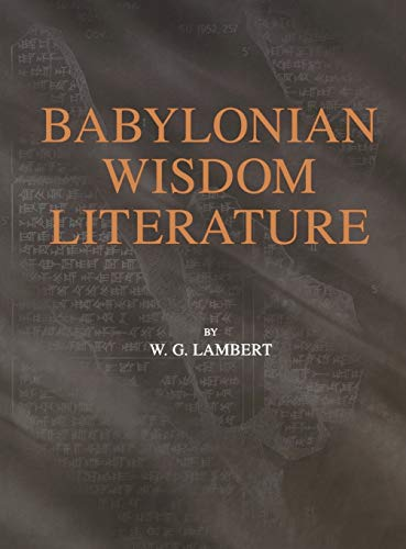 9780931464942: Babylonian Wisdom Literature