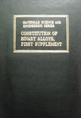 9780931690198: Constitution of Binary Alloys: First Supplement