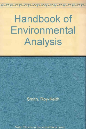 9780931690556: Handbook of Environmental Analysis