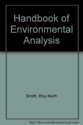 9780931690778: Handbook of Environmental Analysis: Save Hours Searching for Environmental Analysis Data