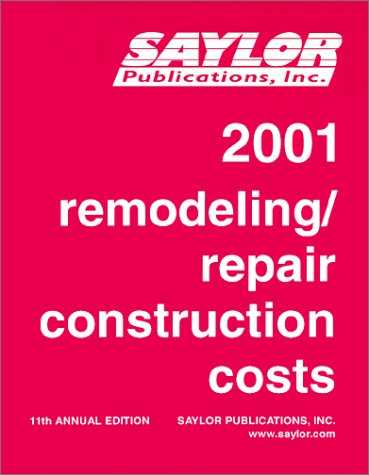 9780931708879: Remodeling Repair Construction Costs 2001