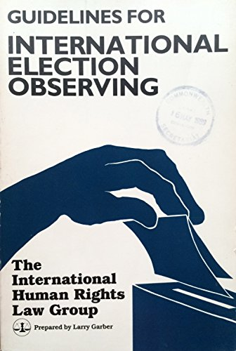 Guideline for International Election Observing