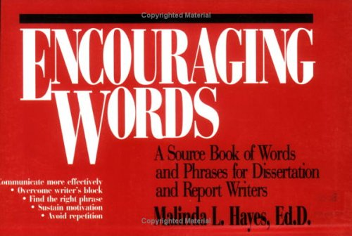 Encouraging Words: A Source Book of Words: Malinda L. Hayes