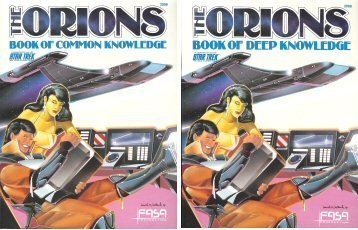 9780931787089: The Orions: Book of Common Knowledge and Book of Deep Knowledge (Star Trek RPG)