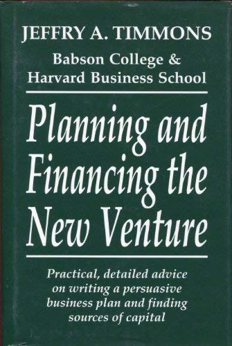 9780931790928: Planning and Financing the New Venture