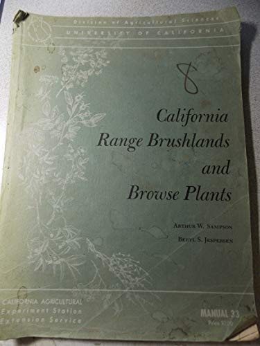 California Range Brushlands and Browse Plants: Sampson, Arthur