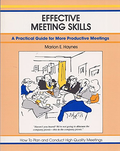 9780931961335: Effective Meeting Skills (A fifty-minute series book)