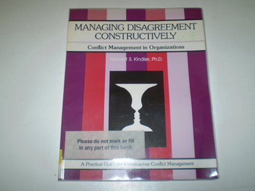 9780931961410: Managing Disagreement Constructively (Fifty-Minute)