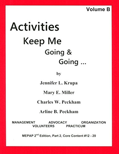 9780931990090: Activities Keep Me Going and Going, Volume B