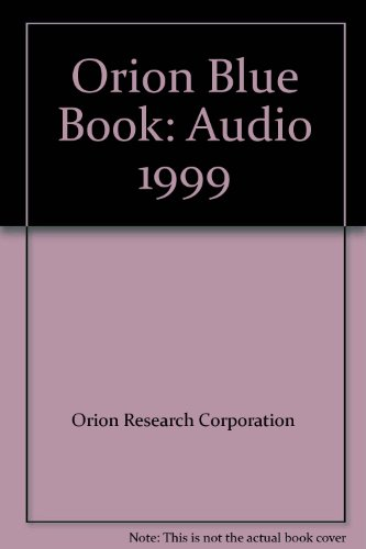 Orion Blue Book Audio 1999