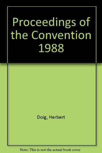 Proceedings of the Convention 1988: Doig, Herbert