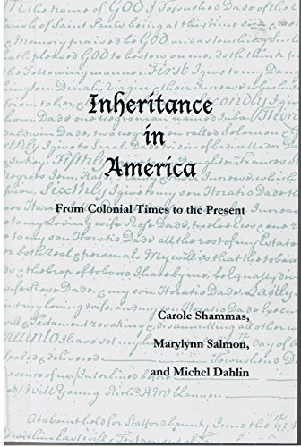 9780932231123: Inheritance in America from Colonial Times to the Present