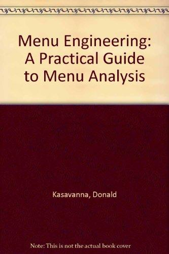 9780932235060: Menu Engineering: A Practical Guide to Menu Analysis