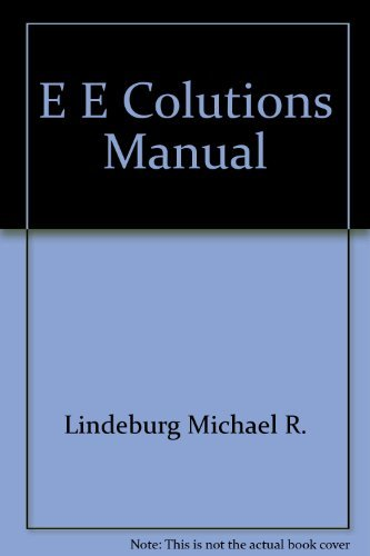 9780932276414: Solutions manual for the Electrical engineering review manual: Including solutions to the sample exam